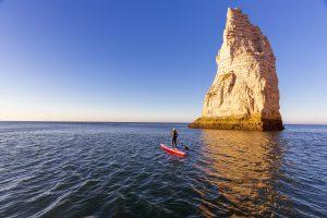 paddle sur la mer manche