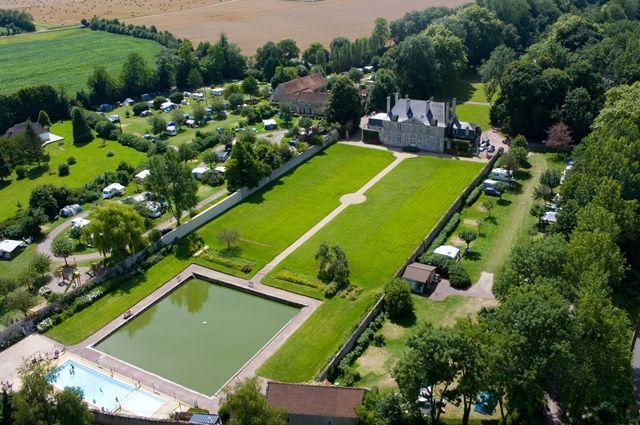 Château vu du ciel normandie