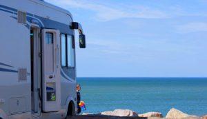 Camping car vue mer