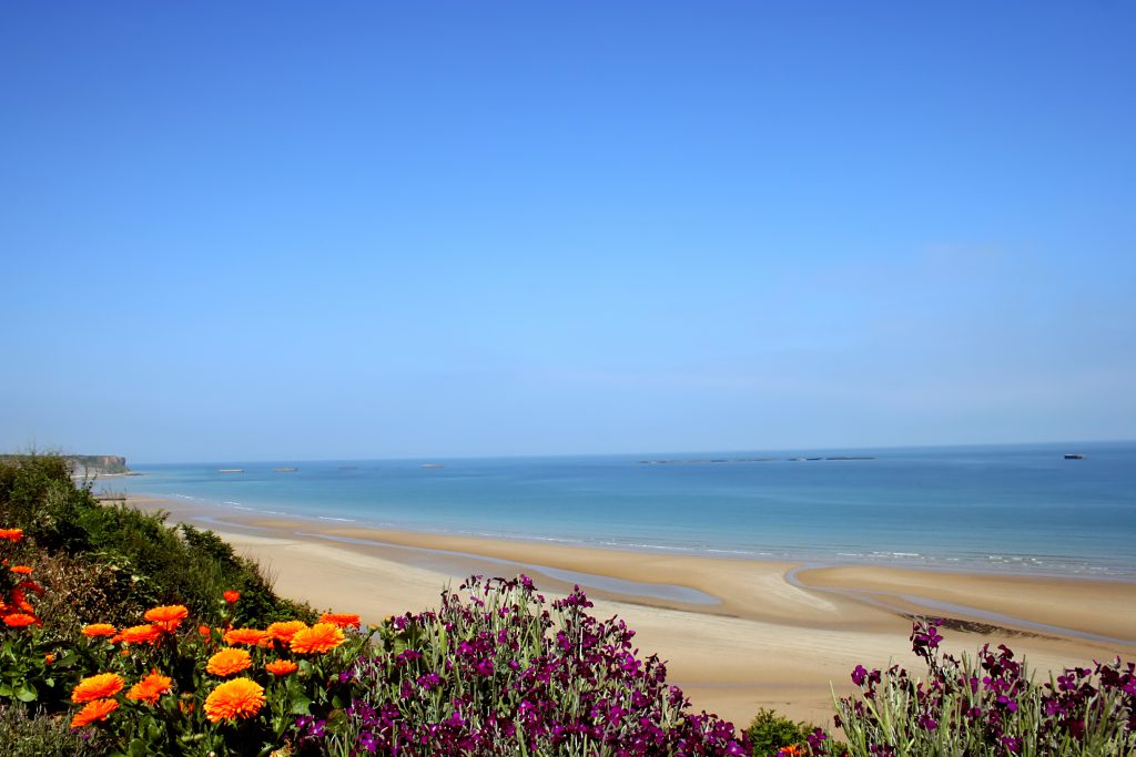 Paysage des plages normandes