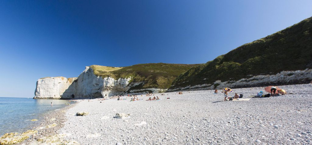 grande plage galet et falaises