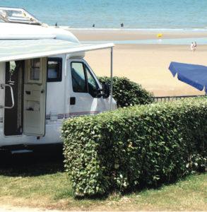 emplacement camping car face à la mer