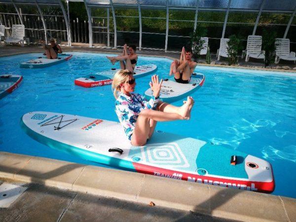 cours de surf piscine camping