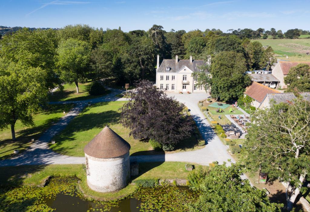 parc chateau vu du ciel normandie