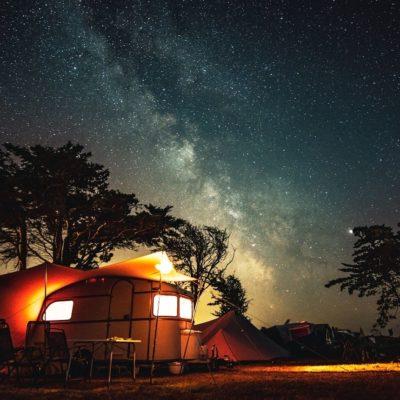 nuit étoilé caravane