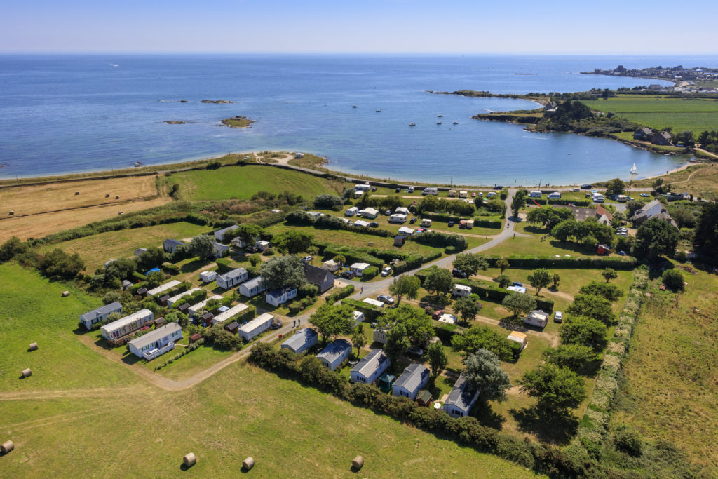camping vue mer, drone