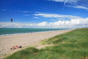 Grande plage de sable, Bréville sur mer