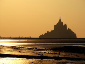 Le Mont-Saint-Michel coucher de soleil