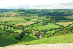 paysage vallée suisse normande