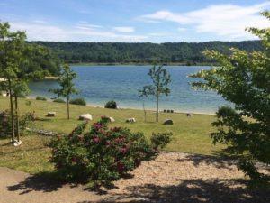 Plage du Lac de Jumièges, haute normandie